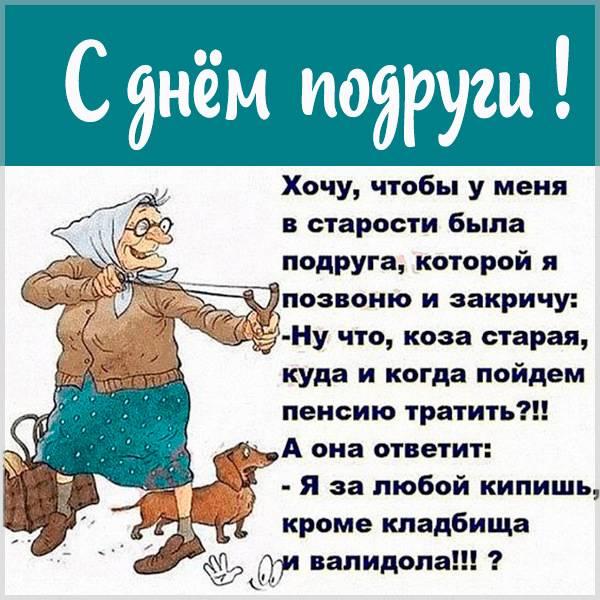 Смешная картинка на день подруги с надписями - скачать бесплатно на otkrytkivsem.ru