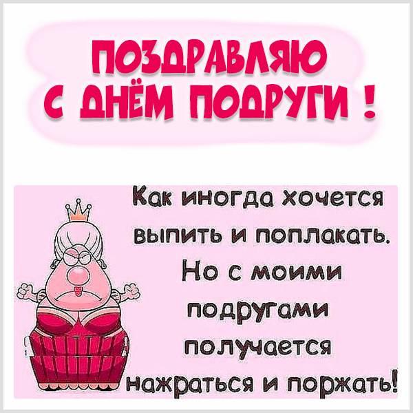 Смешная картинка на день подруги - скачать бесплатно на otkrytkivsem.ru