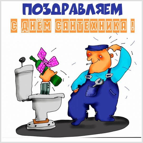 Смешная картинка на день сантехника - скачать бесплатно на otkrytkivsem.ru