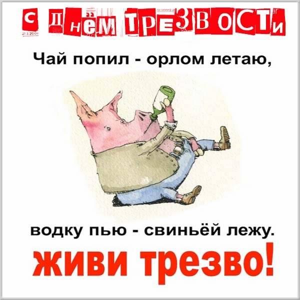 Смешная картинка на день трезвости - скачать бесплатно на otkrytkivsem.ru