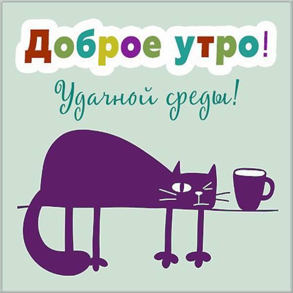 Смешная прикольная картинка доброе утро среда - скачать бесплатно на otkrytkivsem.ru
