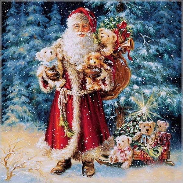 Советская электронная открытка с Дедом Морозом - скачать бесплатно на otkrytkivsem.ru