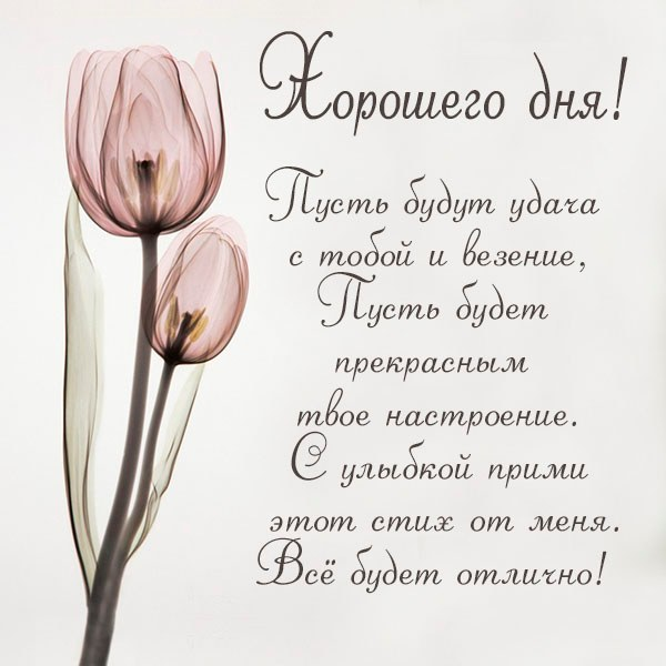 Стильная открытка хорошего дня и отличного настроения - скачать бесплатно на otkrytkivsem.ru