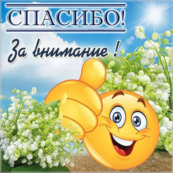 Веселая картинка спасибо за внимание - скачать бесплатно на otkrytkivsem.ru