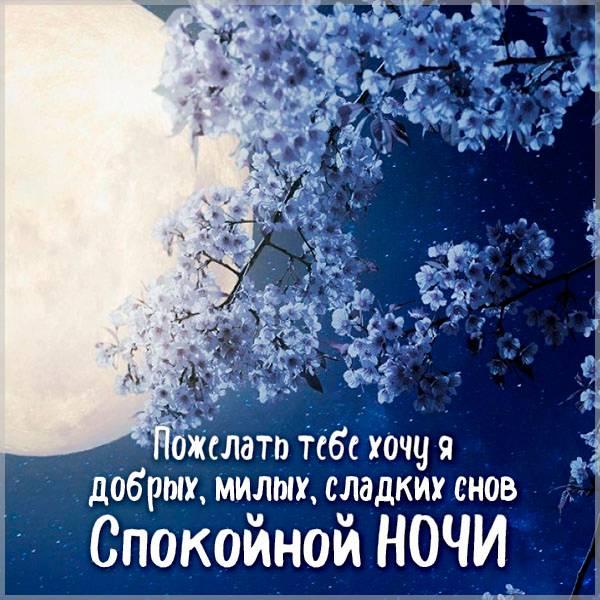 Весенняя картинка спокойной ночи - скачать бесплатно на otkrytkivsem.ru