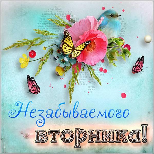 Весенняя открытка про утро вторника - скачать бесплатно на otkrytkivsem.ru