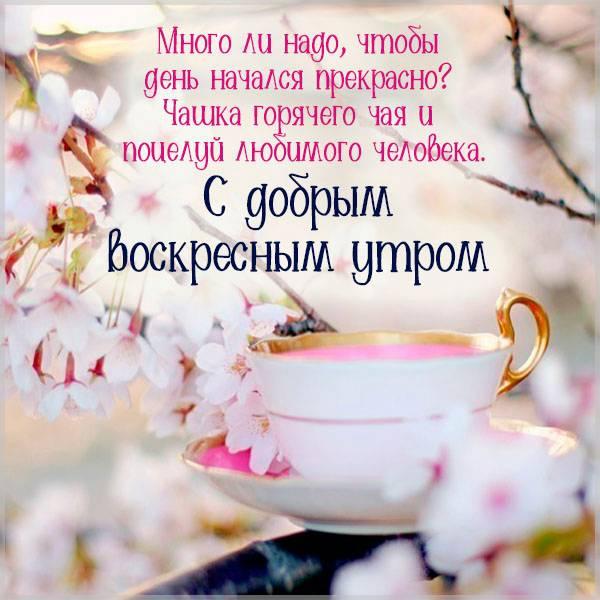 Весенняя открытка с добрым воскресным утром - скачать бесплатно на otkrytkivsem.ru