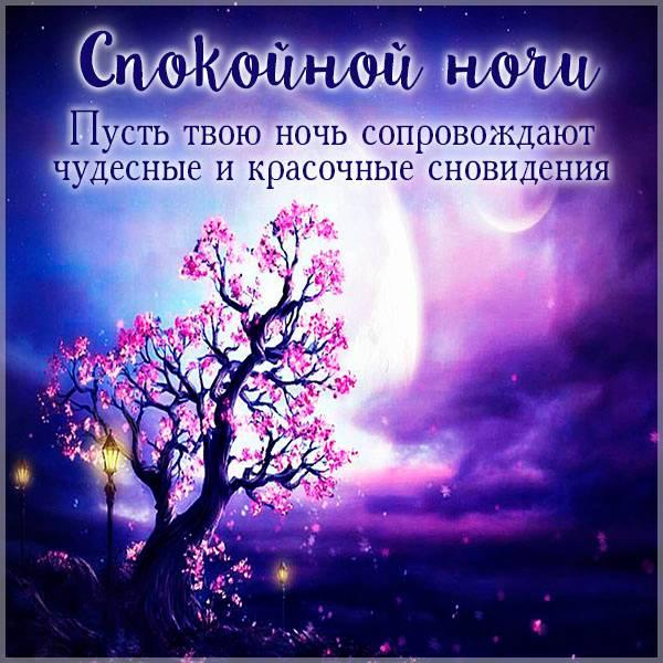 Весенняя открытка спокойной ночи - скачать бесплатно на otkrytkivsem.ru