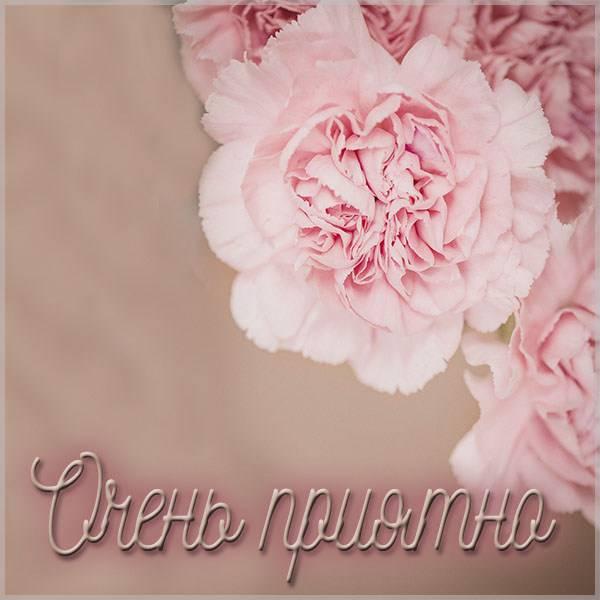 Виртуальная картинка очень приятно - скачать бесплатно на otkrytkivsem.ru