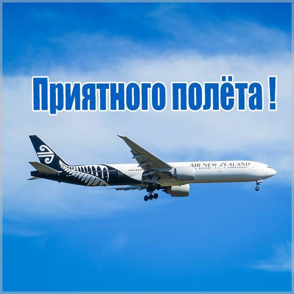 Виртуальная картинка приятного полета - скачать бесплатно на otkrytkivsem.ru