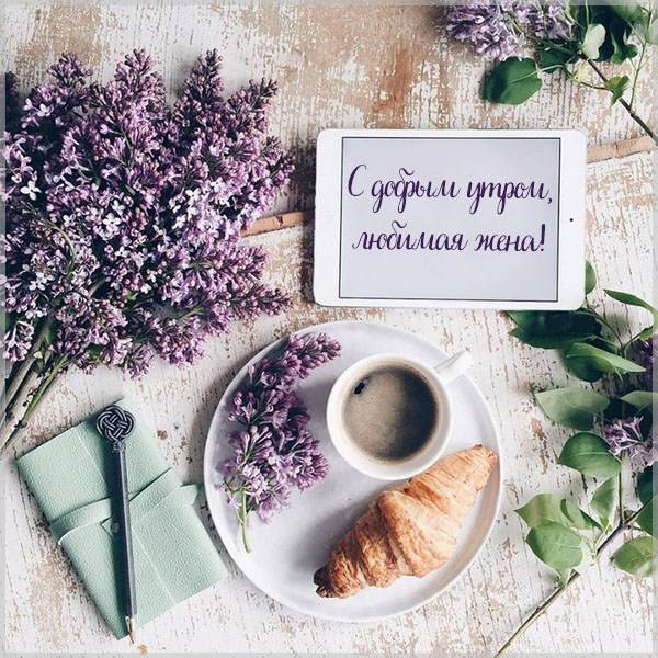 Виртуальная картинка с добрым утром любимая жена - скачать бесплатно на otkrytkivsem.ru