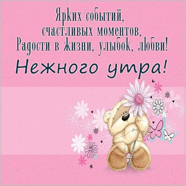 Виртуальная картинка с пожеланием нежного утра - скачать бесплатно на otkrytkivsem.ru