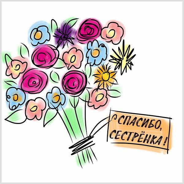 Виртуальная картинка спасибо сестренка - скачать бесплатно на otkrytkivsem.ru