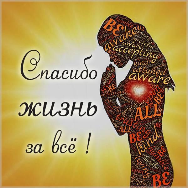 Виртуальная картинка спасибо жизнь за все - скачать бесплатно на otkrytkivsem.ru
