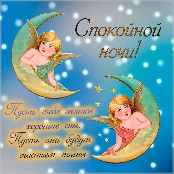 Виртуальная картинка спокойной ночи ангел - скачать бесплатно на otkrytkivsem.ru