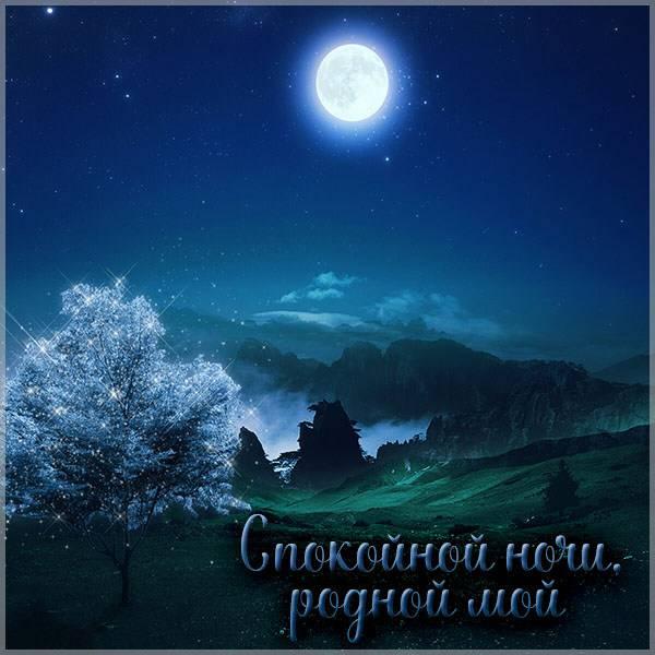 Виртуальная картинка спокойной ночи родной мой - скачать бесплатно на otkrytkivsem.ru