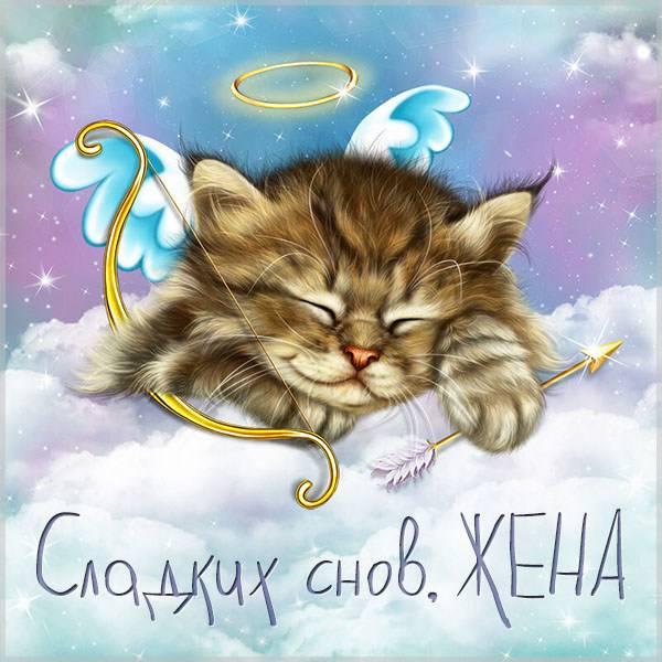 Виртуальная открытка для любимой жены сладких снов - скачать бесплатно на otkrytkivsem.ru
