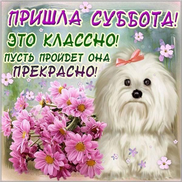 Виртуальная открытка с субботой - скачать бесплатно на otkrytkivsem.ru