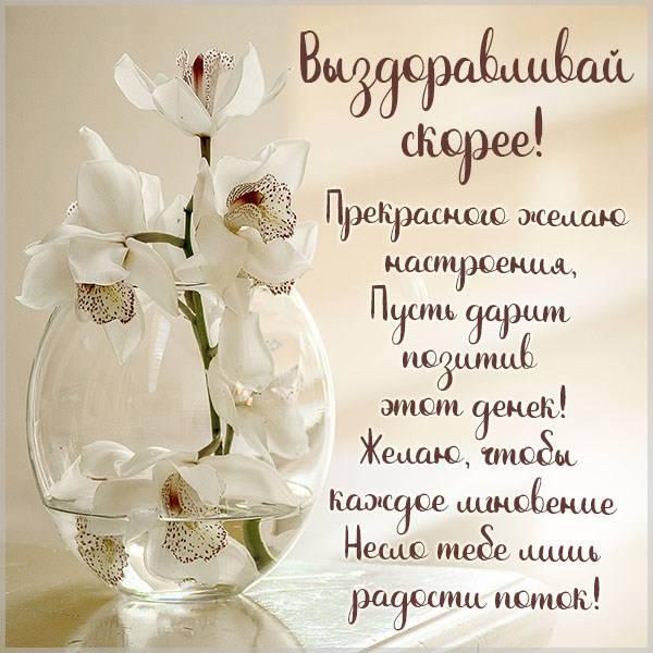 Виртуальная открытка выздоравливай скорее подруге - скачать бесплатно на otkrytkivsem.ru