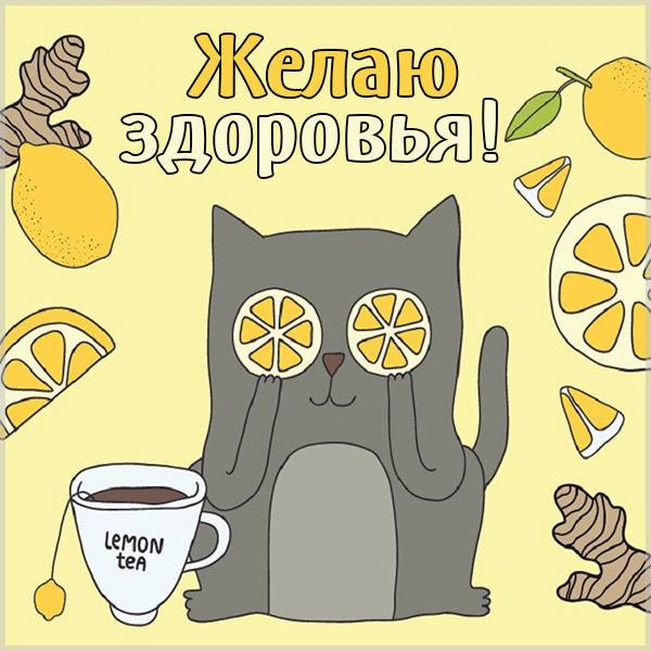 Виртуальная открытка желаю здоровья - скачать бесплатно на otkrytkivsem.ru
