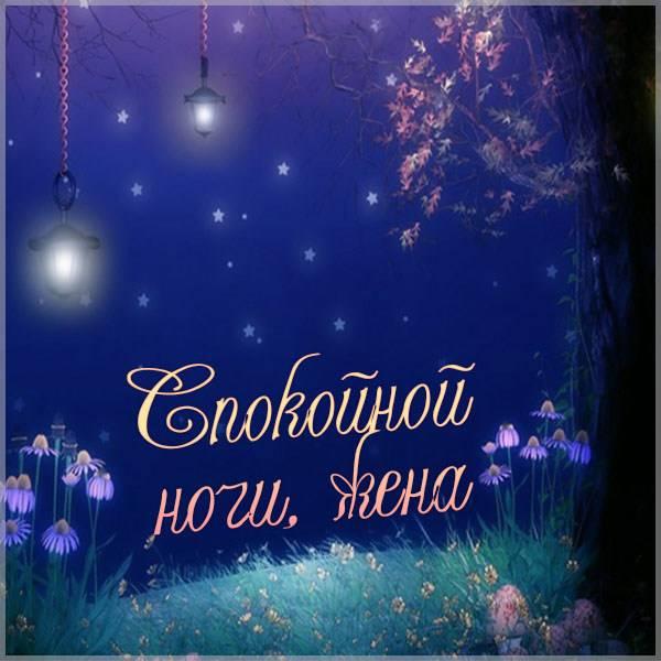 Виртуальная открытка жена спокойной ночи - скачать бесплатно на otkrytkivsem.ru