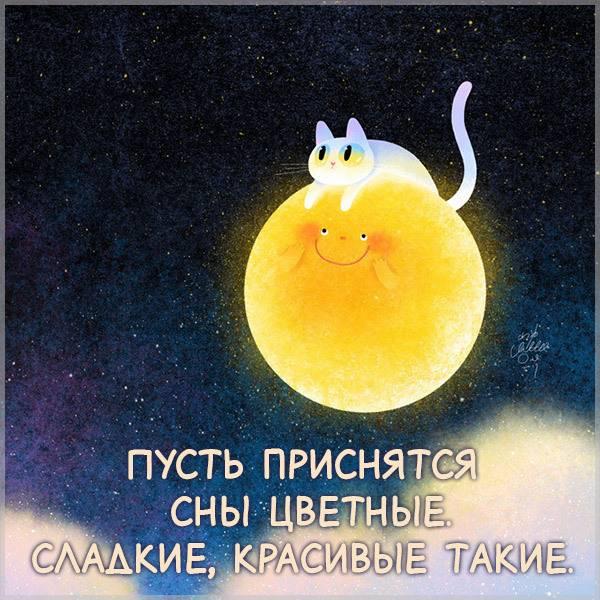 Виртуальная прикольная картинка сладких снов - скачать бесплатно на otkrytkivsem.ru