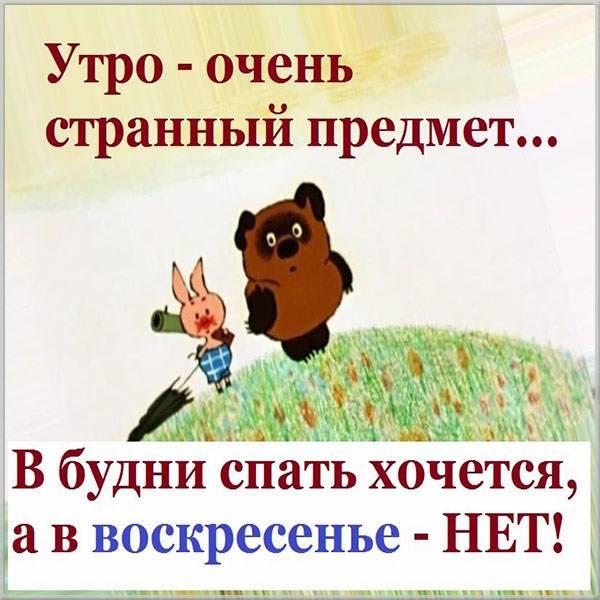 Воскресная утренняя прикольная картинка - скачать бесплатно на otkrytkivsem.ru