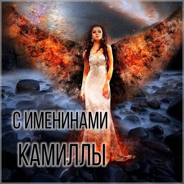 Яркая картинка с именинами для Камиллы - скачать бесплатно на otkrytkivsem.ru