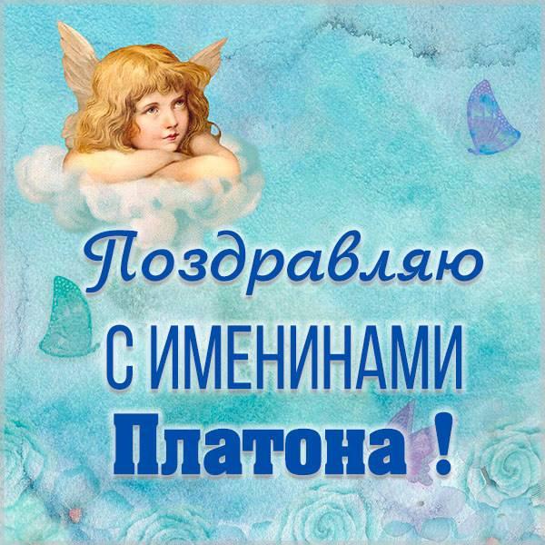Яркая картинка с именинами для Платона - скачать бесплатно на otkrytkivsem.ru