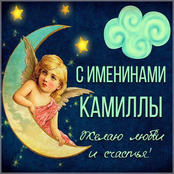 Яркая открытка с именинами для Камиллы - скачать бесплатно на otkrytkivsem.ru