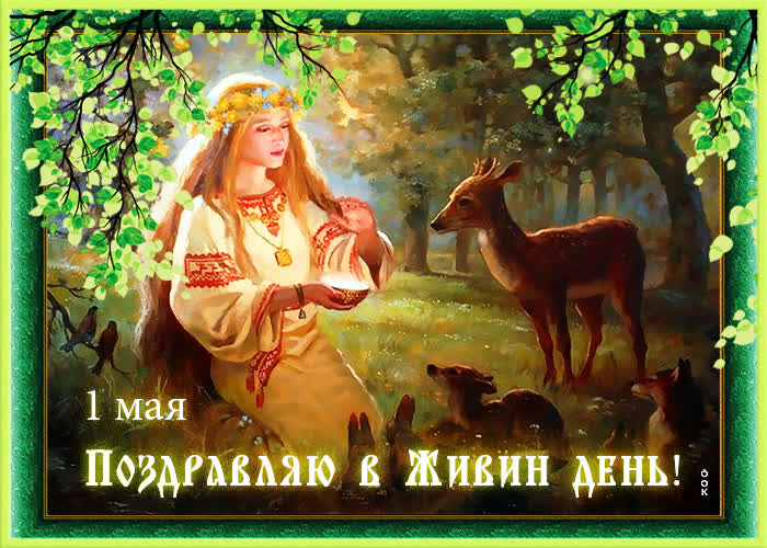 Красивая картинка Живин день - скачать бесплатно на otkrytkivsem.ru